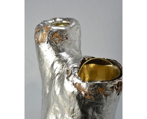 銀箔押し二具器「双竜」